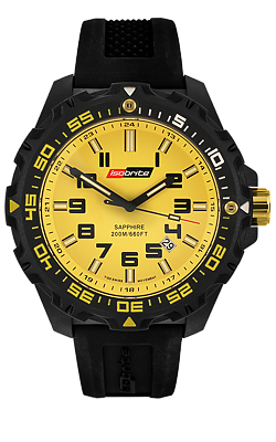 IsoBright Valor T100 Tritium Watch, Yellow DIal, Yellow Tritium, ISO303, ISO313
