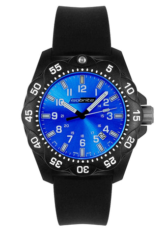 IsoBright T100 Tritium Women's or Mid-Size Military/Sport Watch, Blue Dial, ISO353