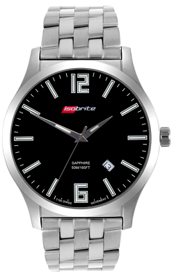 IsoBright Grand Slimline T100 Tritium Watch, Bracelet Model ISO9112