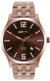 IsoBright Grand Slimline Tritium Watch, Rose Goldtone ISO914