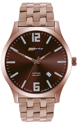 ArmourLite IsoBright Grand Slimline Tritium Watch, Rose Goldtone ISO914