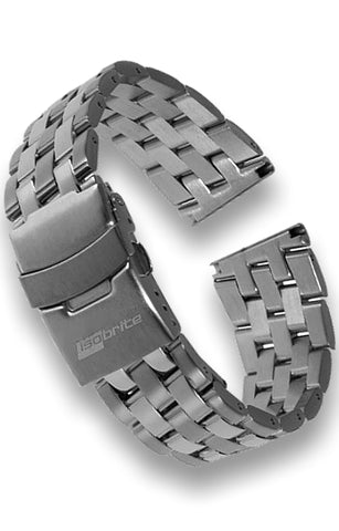 Stainless Steel Link Bracelet 22 mm Lug Width, Universal Easy Fit ISS900