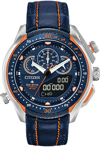 Citizen Promaster SST Eco-Drive World Racing Watch, Blue with Orange Accents JW0139-05L