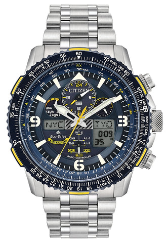 Citizen Promaster Blue Angels Skyhawk A-T with Steel Bracelet, JY8078-52L
