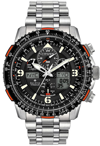 Citizen Promaster Skyhawk A-T, Pilot's Radio Controlled World Time Alarm, Chronograph, JY8108-53E