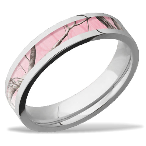 Lashbrook Real Tree Pink Camo Wedding Band