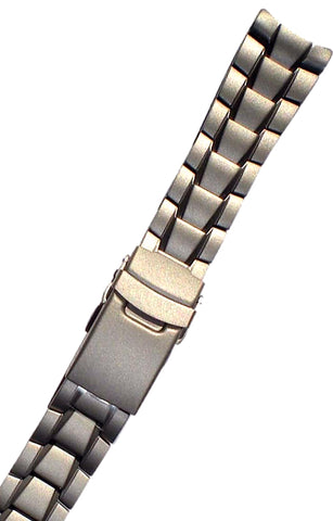MilSpec Solid Titanium Bracelet, Fits Luminox 3600 Series or Traser Commander 100, 22 mm