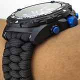 Armourlite Black Paracord Watchband, 22mm or 24mm