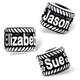 Personalized Sterling Silver Name Bead Charms, Fits all Popular Bracelets, by Reflections