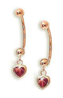 Jose Jay 14k Gold and Garnet Demi-Hoop Earrings, Cioro S134-GA