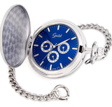 Speidel Classic Triple Subdial Closing Cover Pocket Watch with Chain, 35506154