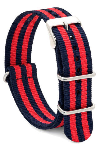 Speidel Nylon NATO Watch Strap - Red and Blue - 20 mm