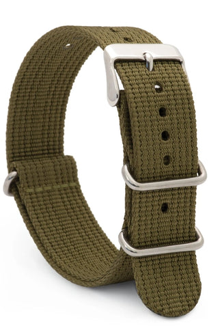 Speidel Nylon NATO Watch Strap - Military Olive Green - 20 mm