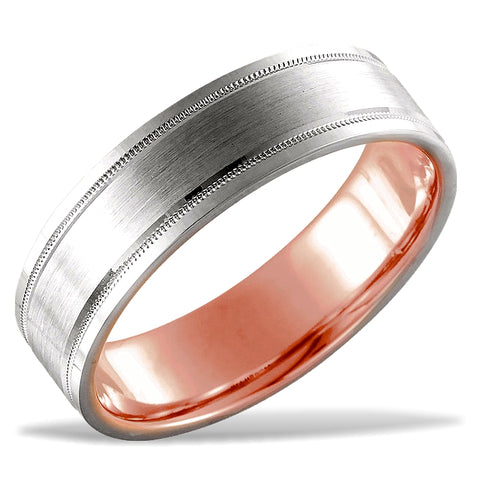 14k Gold Hidden Blush Wedding Ring