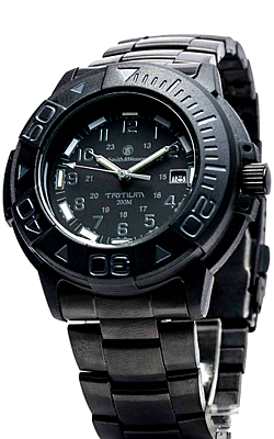 Smith wesson 900 series tritium dive watches with bracelet and strap time 4 tritium for Tritium dive watches
