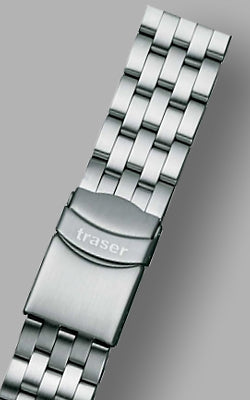 Traser Solid Link Stainless Steel Signature Watch Bracelet 22 mm