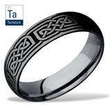 Lashbrook Tantalum Celtic Knot Wedding Band