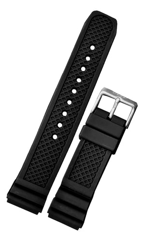 Traser Genuine OEM Signature Rubber Dive Strap, 22mm, model T3, 105693