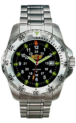 UZI Defender Titanium Tritium Watch, model UZI-32-T