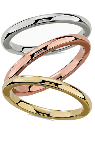 Classic 2mm Comfort Fit Wedding Bands in Rose, White or Yellow 10k or 14k Gold