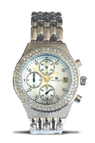 Charles-Hubert Paris Crystal Collection Women's Chronograph