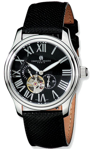 Charles-Hubert Paris Automatic Selfwinding Watch, Stainless Steel, Black Dial, XWA4240