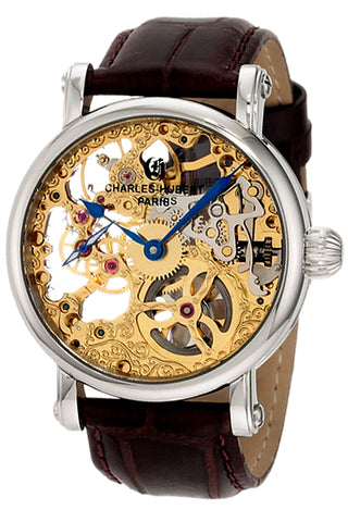 Charles-Hubert Paris Premium Collection 17 jewel Skeleton Mechanical Watch, XWA4294