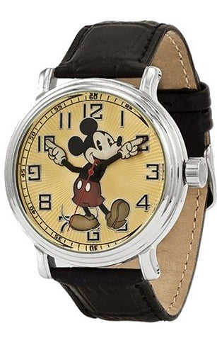 Disney's Classic Mickey Mouse Watch, Retro Styling with Moving Arms