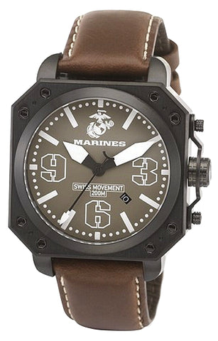 U.S. Marine Corps Leatherneck Military Watch  XWA4624