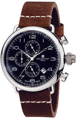 Charles-Hubert Paris Vintage ZULU Time, Dual Time Pilot's Watch XWA4787
