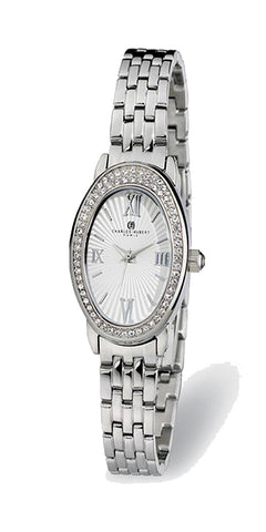 Ladies Charles-Hubert Paris Swarovski Crystal Stainless Steel Bracelet Watch XWA4919