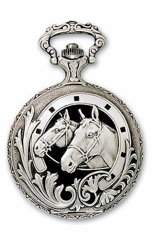 Horse Closing Cover Pocket Watch, Swiss Made from Charles-Hubert Paris