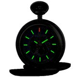Charles-Hubert Paris Skeleton Pocket Watch, Tritium Illumination, with Closing Covers, XWA5561