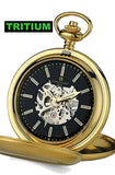 Charles-Hubert Paris Skeleton Pocket Watch with TRITIUM Illumination, Closing Cover, XWA5562