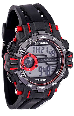 Men's Cardinal SuperWatch, Digital, Alarm, Dual Time. Chronograph, Backlight, Perpetual Calendar