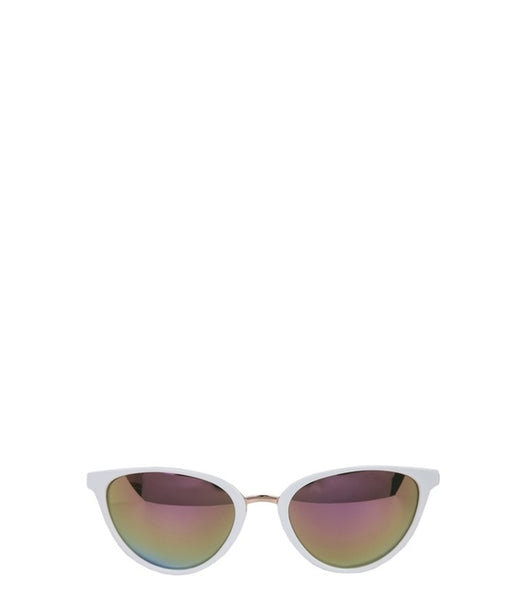 Jordyn White Cat-Eye Sunglasses (Nicole Lee)