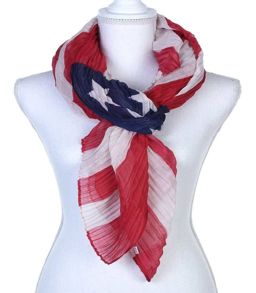 Stars and Stripes Print Scarf
