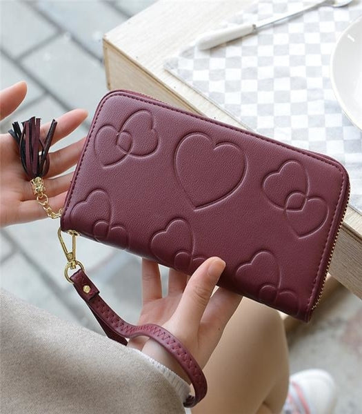 Heart Wallet with Zipper