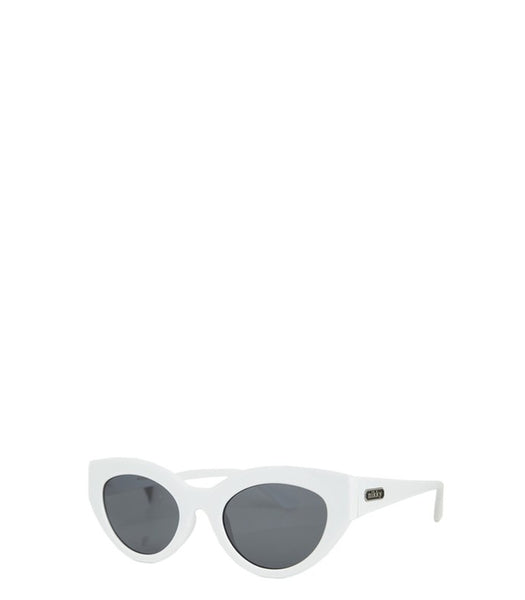 Nikky Aliaina White Cat-Eye Sunglasses (Nicole Lee)