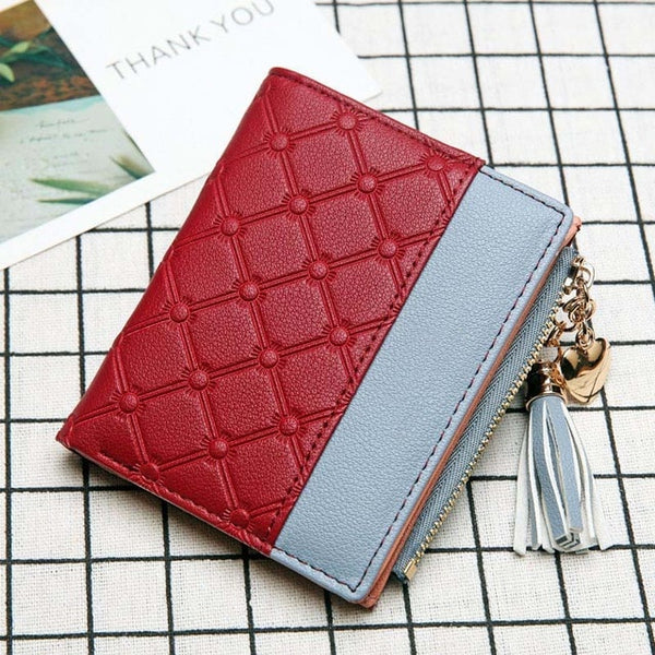 Stitched Wallet with Tassel