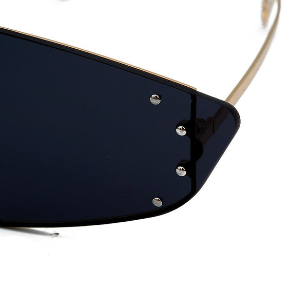 Cat Eye Fashion Sunglasses with Irregular Mirror Lens