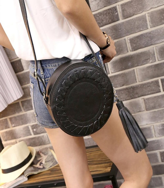 Women's Round Crossbody Adjustable Handbag