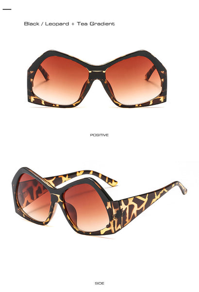 Double Colors Oversize Women Sunglasses