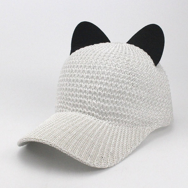 Cat Ear Mesh Baseball Cap