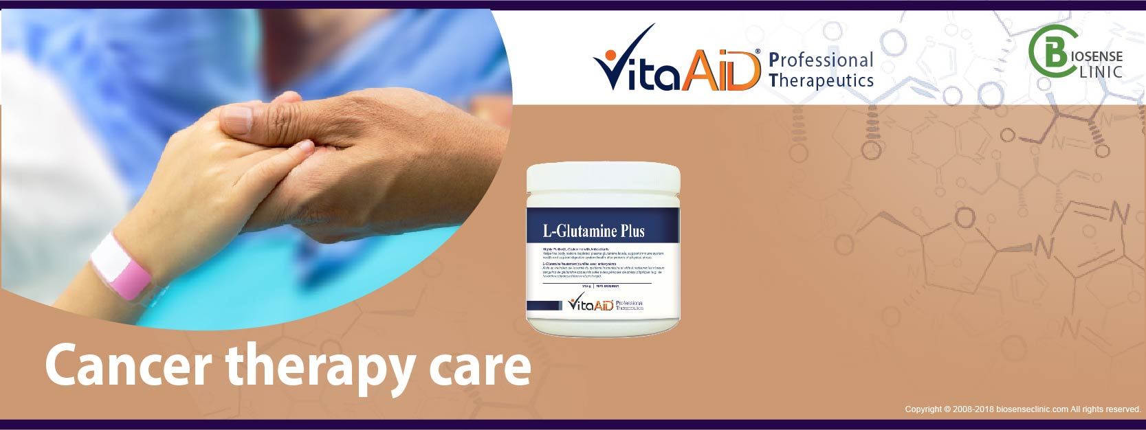 VitaAid category banner Cancer therapy care