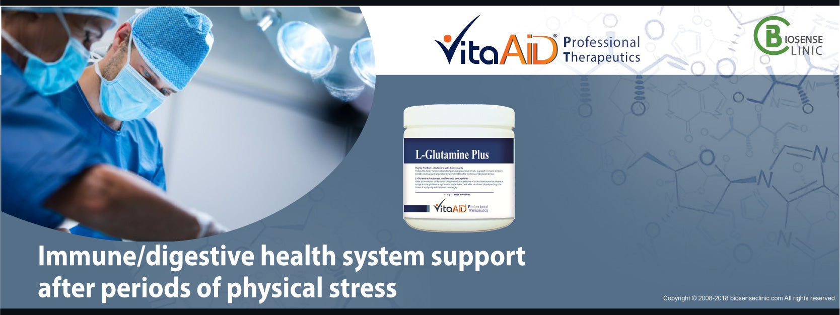 VitaAid category banner Immune/digestive health system support after periods of physical stress