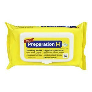 Preparation H Soothing Wipes With Aloe - BiosenseClinic.com