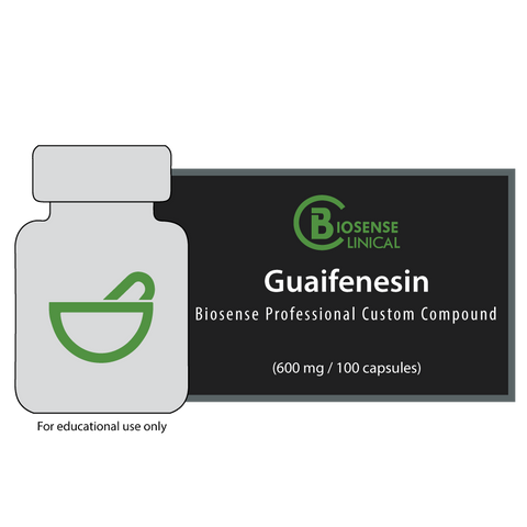 BiosenseClinical Professional Custom Compound Guaifenesin - 600 mg - Biosense Clinic