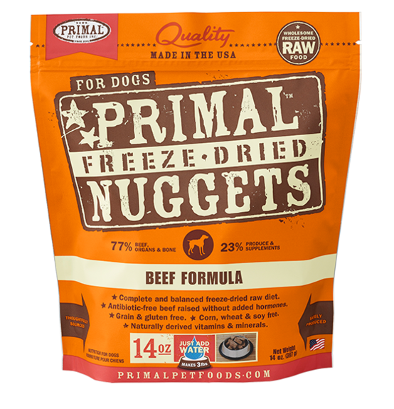 Primal Raw Freeze Dried Canine Beef Formula - 14 oz. (397g)