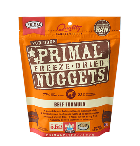 Primal Raw Freeze Dried Canine Beef Formula - 5.5 oz. (156g)